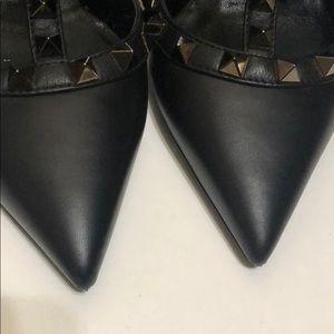 Valentino Shoes - Valentino Garavani Noir Rockstud T-Strap Pump